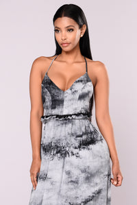 Felt Love Maxi Dress - Grey