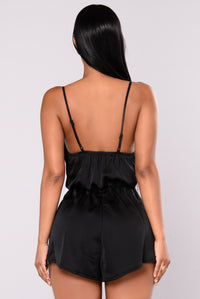 Midnight Train Romper - Black
