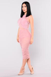 Zali Mesh Dress - Mauve