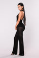 Welcome To New York Fishnet Jumpsuit - Black