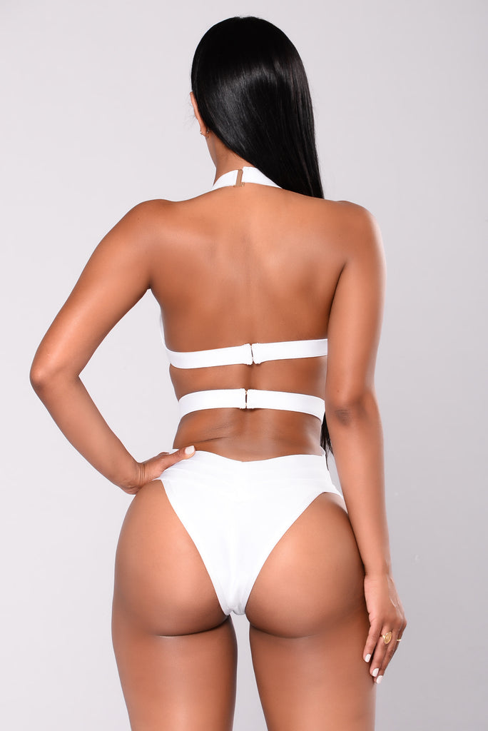 Franny Bandage Swimsuit - White