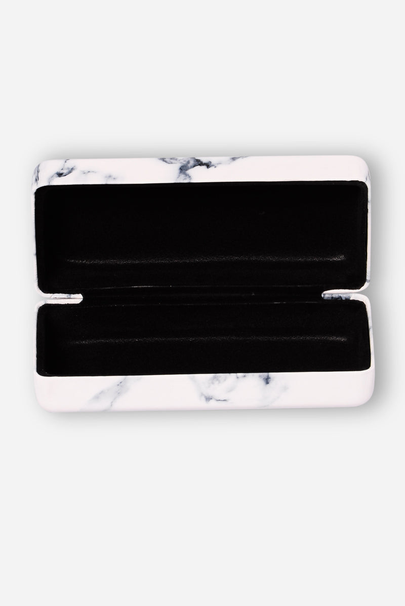 Marble Sunglass Case - Blue