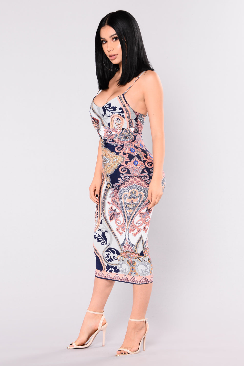Bettina Pasely Dress - Navy