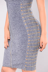 Daylee Bandage Dress - Denim