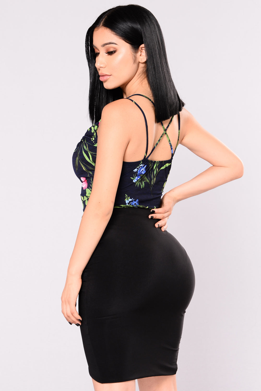 Tropic Wave Bodysuit - Black