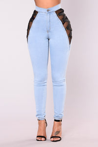 Ambrosio Mesh Lace Jeans - Light