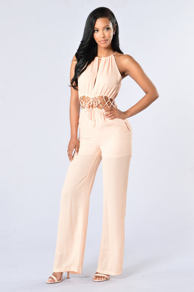 Modish Jumpsuit - Blush