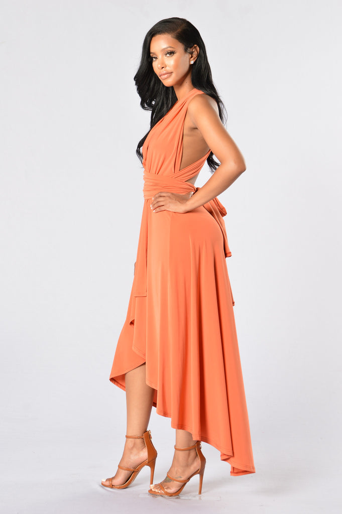 All Glam Dress - Rust