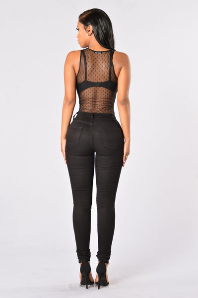 Feels Good to Be Bad Bodysuit - Black