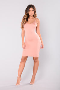 Ashlee Slip Dress - Rose