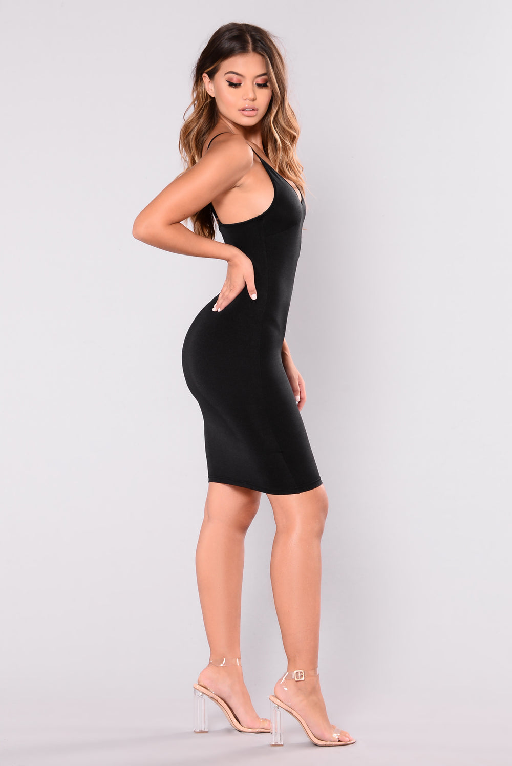 Ashlee Slip Dress - Black