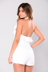 Look Up To Me Romper - White