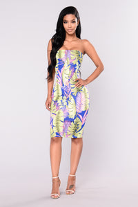 Palm Trees Dress - Royal Angle 1