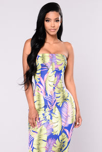 Palm Trees Dress - Royal Angle 2