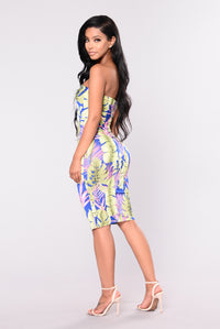 Palm Trees Dress - Royal Angle 4