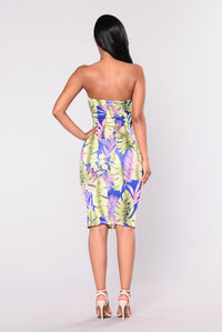 Palm Trees Dress - Royal Angle 3