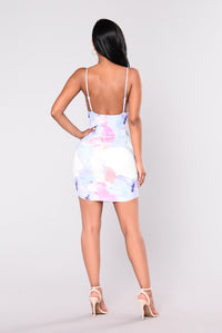 Light My Way Dress - Ivory Multi
