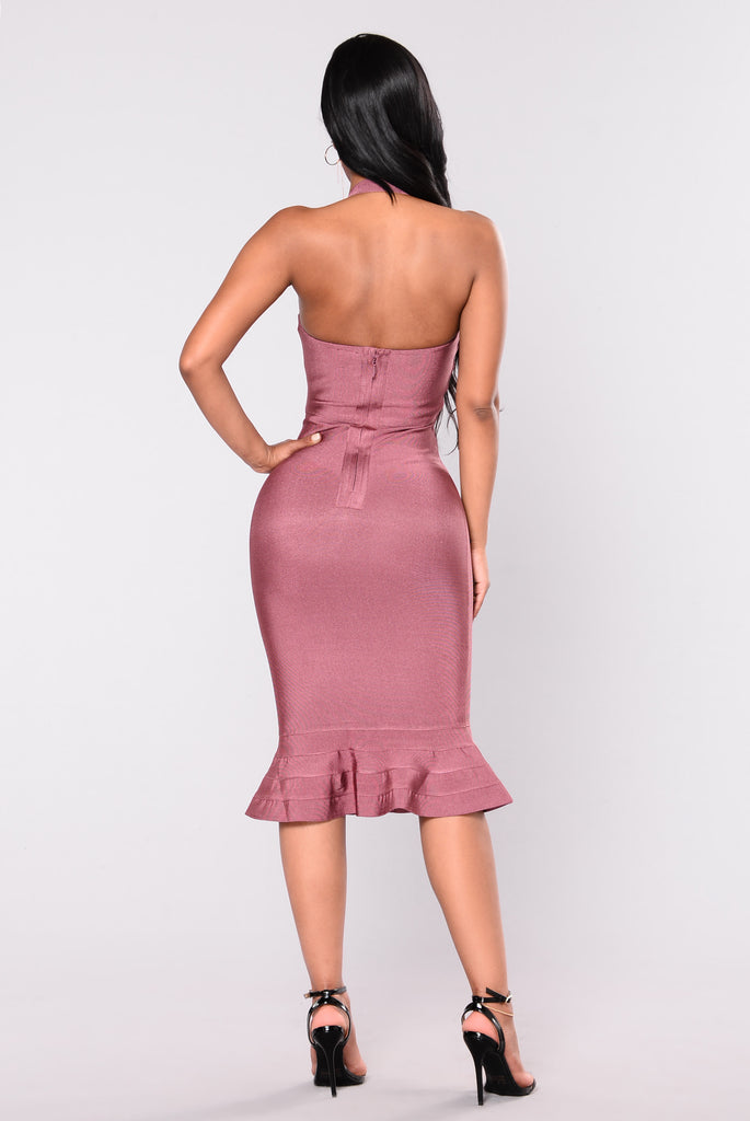 Bethany Bandage Dress - Purple