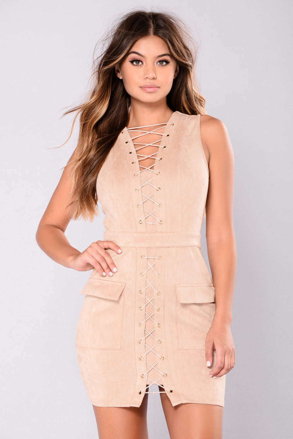 Forever And Ever Dress  - Taupe
