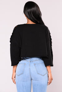 Georgina Cropped Top - Black