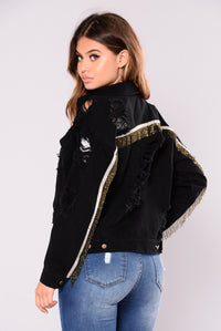 Barry Denim Jacket - Black