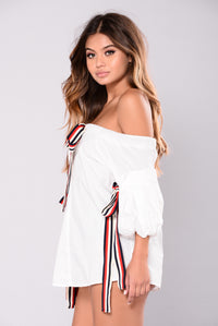 Destined To You Off Shoulder Top - White