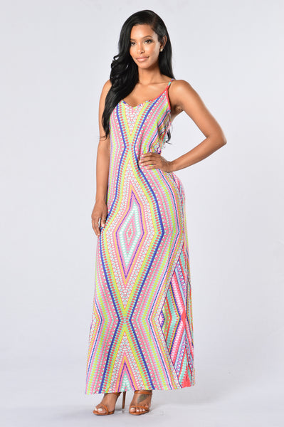 Dream Weaver Dress - Pink