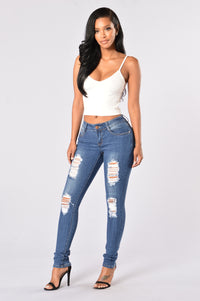 Going Rogue Jeans - Medium Blue Angle 4