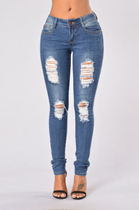 Going Rogue Jeans - Medium Blue Angle 1