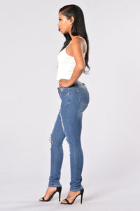 Going Rogue Jeans - Medium Blue Angle 6