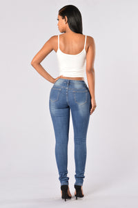 Going Rogue Jeans - Medium Blue Angle 5