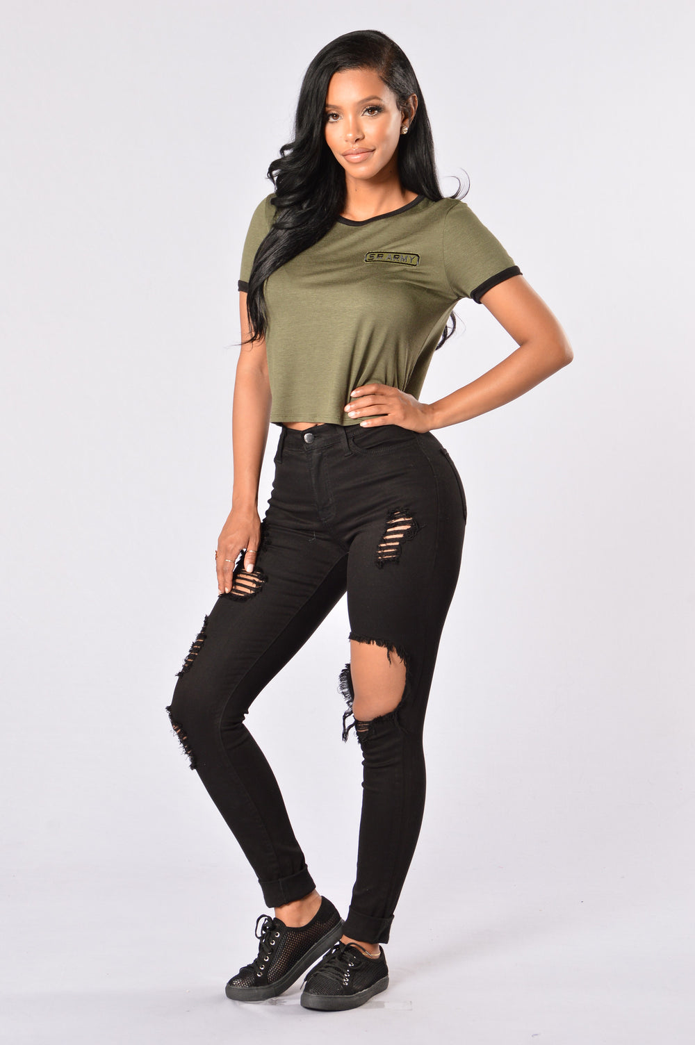 Sergeant Pepper Crop Tee - Olive