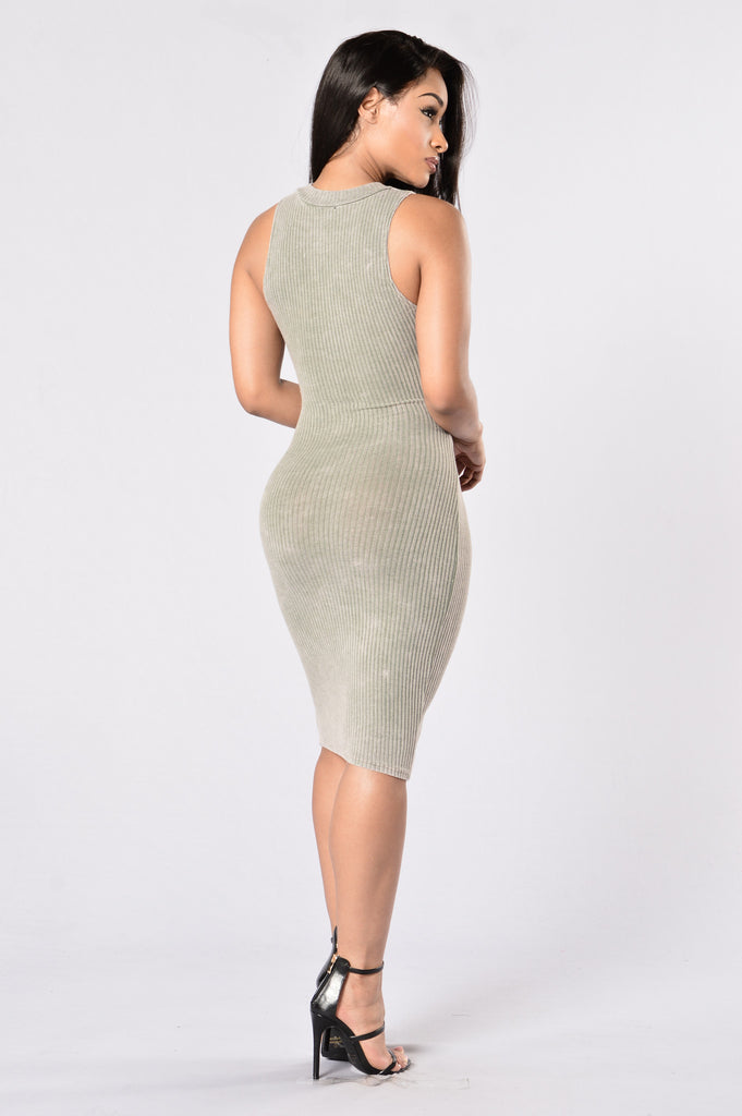 Talk the Talk Dress - Olive