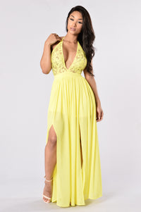 Summer Dress - Yellow Angle 1