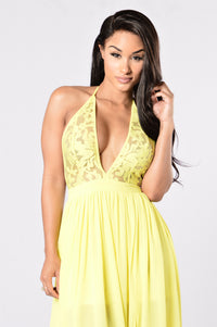Summer Dress - Yellow Angle 2