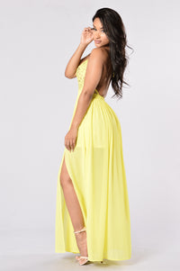 Summer Dress - Yellow Angle 4