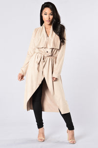 Suede Scandal Jacket - Latte