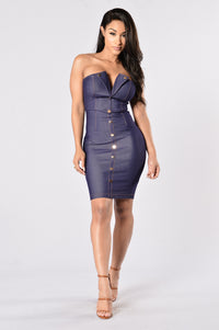 Anna Nicole Dress - Indigo