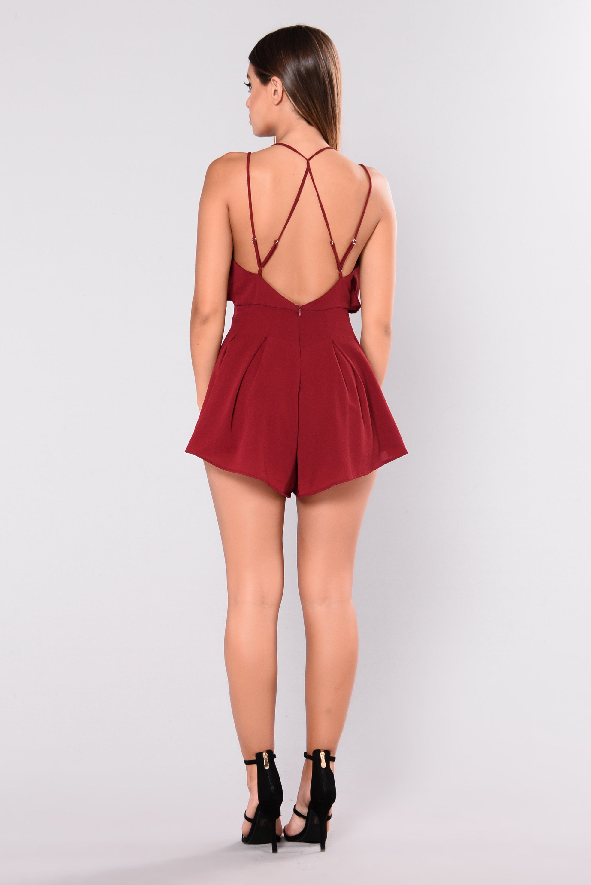 1344bd594920 Free To Be Romper - Wine