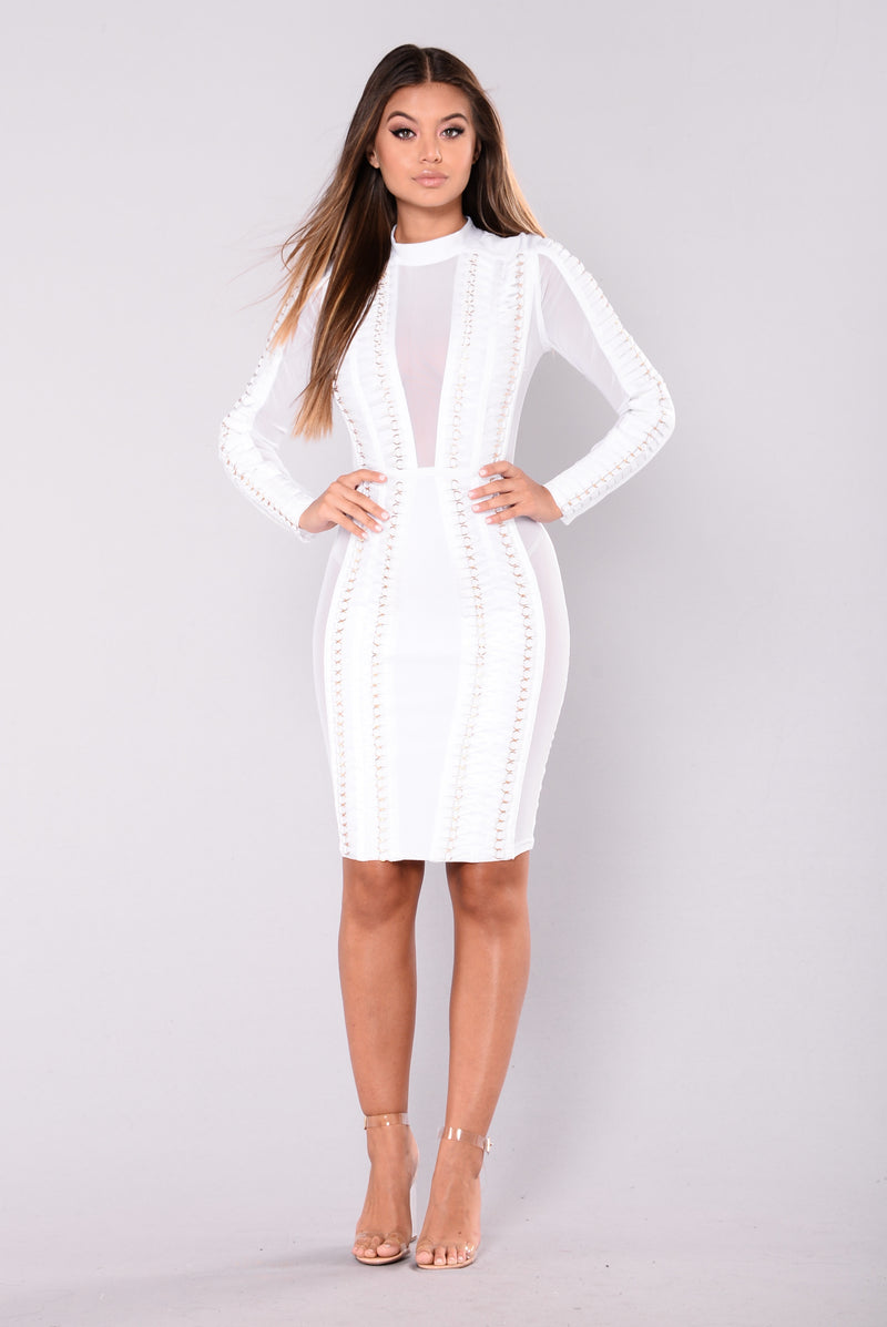 Sonya Bandage Dress - White