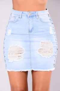 Alison Lace Up Skirt - Light
