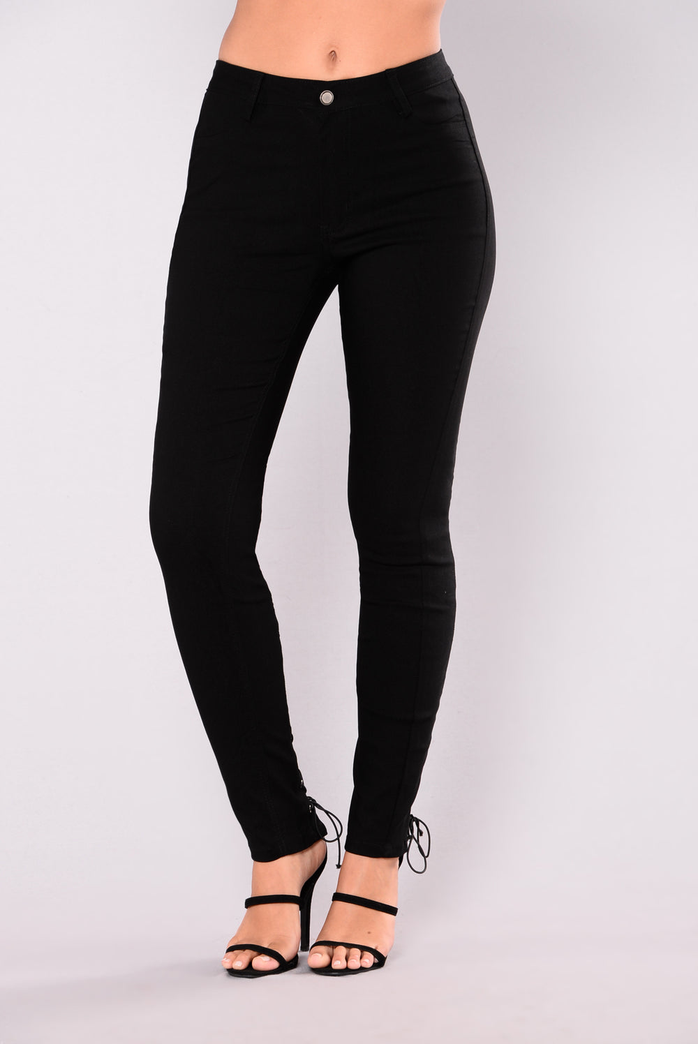 Bentley Lace Up Pants - Black