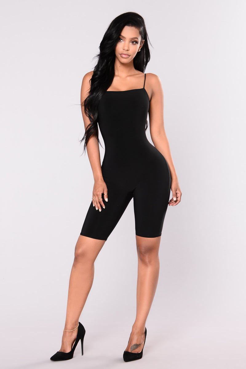 Aries Cropped Jumpsuit - Black