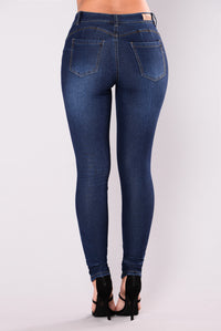 Breaking Necks Booty Lifting Jeans - Dark Blue