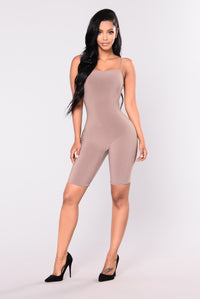 Aries Cropped Jumpsuit - Mocha