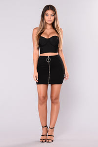 Rosalie High Rise Skirt - Black