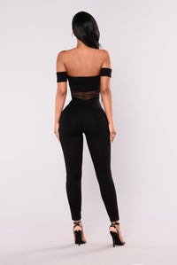 Cray Cray Fishnet Jumpsuit - Black