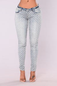 Dallas Sparkle Jeans - Light Wash