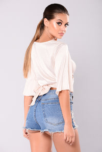 Loose Ends Wrap Top - Champagne