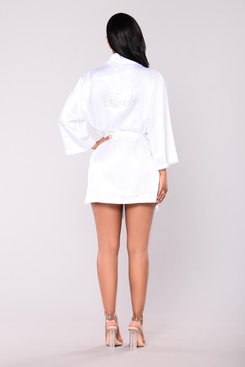 Bride Tribe Satin Robe - White